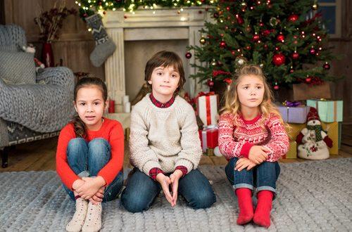 bambini con i genitori separati a Natale