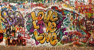 le scritte sui muri per san valentino