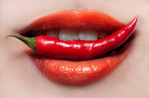 labbra donna peperoncino