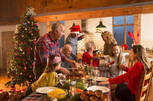 famiglia, pranzo, lui, natale