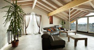 soggiorno arredato con stile eclettico